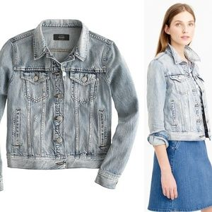 J. Crew  Jean Jacket in Calyer Distressed HW7102
